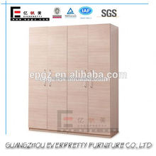 Stainless Steel Handles Wooden Clothes Cupboard Designs of Bedroom