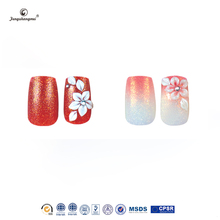 Fengshangmei tip designs 24pcs different styles of 3d nail tip fake 3D acrylic nails