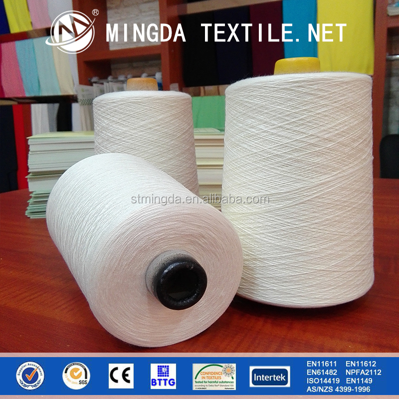 2016 hot sale 100% meta-aramid / nomex 20s flame retardant aramid yarn for knitting gloves