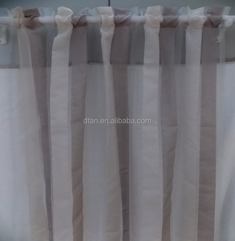 2015 cheap stripe polyester sheer curtain