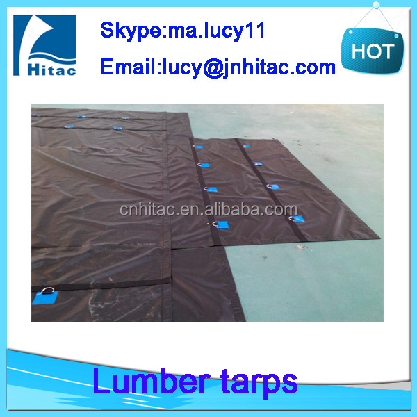 0.55mm uv protection fire resistant pvc vinyl coated fabric tuck tarpaulin covers