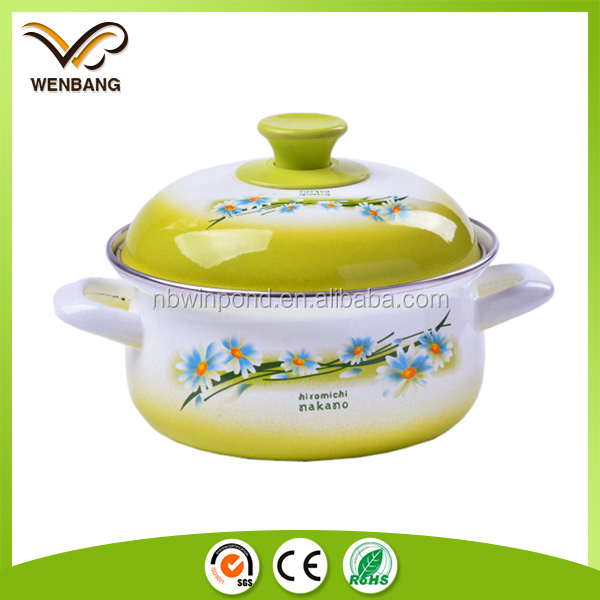 Made in China high quality enamel casserole german cookware sets gold cookware set