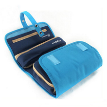 Hanging bathroom storage organizer foldable toiletry bag