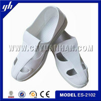 Work boots /Electronics factory clean shoesFor authentic special PU shoes Four hole dust-free anti-static work shoes PU bottom
