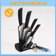 Hot sell high quality useful and functional cutlery set customized logo free samples family 4 pcs cooking knife set