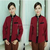Newest design all types of hotel housekeeping uniform