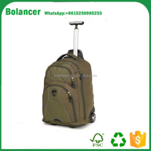 Popular cheap lady duffle trolley bags with wheels