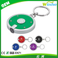 Winho Deluxe coaster shape round flashlight Key Chain