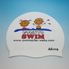 Fashionable Best Quality adult children flexible customized logo printing waterproof silicone swimming cap