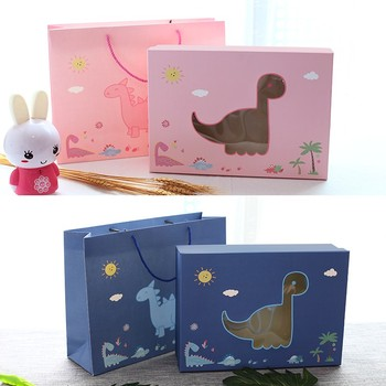 Cartoon design baby gift set box with clear window for toy for clothes