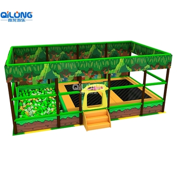 QiLong Factory Price Wholesale Small Jump Trampoline with Foam Pit,Bungee Jumping Trampoline