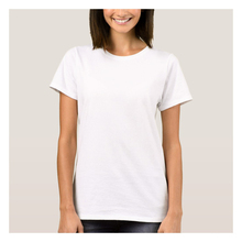 Korte Mouw Crew Womans Basic Tee Leeg Wit Plain T-shirt Sales