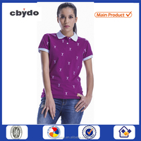 China new style high quality office uniform designs polo shirts for women 2016