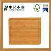 Customizable wooden chopping board bamboo cutting boards with non-slip silicone