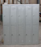 High quality and top selling china import 10 compartment change room lockers used strong locker double tiers key lockers/combina