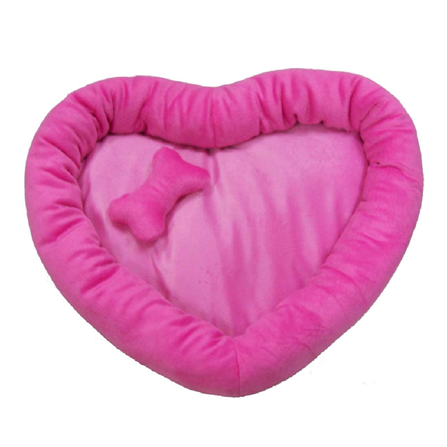Soft Pet Bed Red Heart Shape Canopy Beds For Dogs