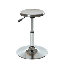 stainless steel technician lab chair / durable metal school lab stool