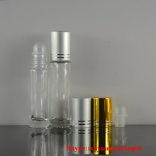 10ml mini roll-on glass bottle for essential oil metal roller ball perfume bottle