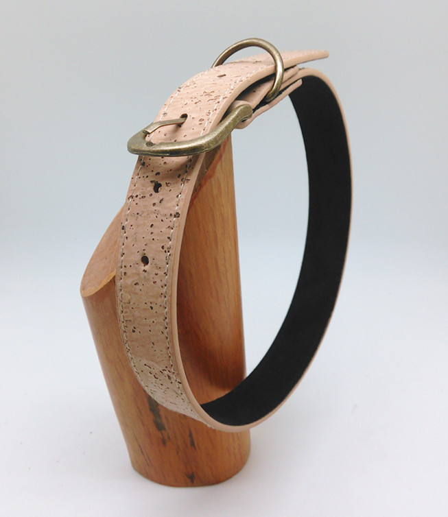 Boshiho custom cork dog led collar vegan leather pet collar