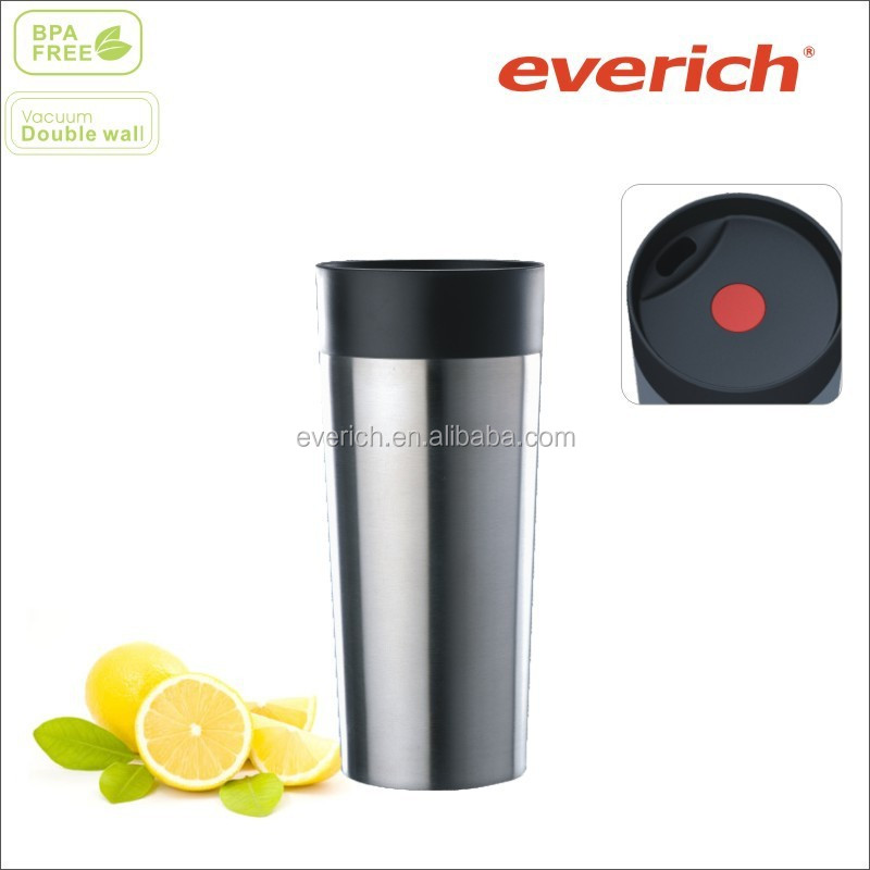 500ml Promotional Stainless Steel Travel Mug With button lid