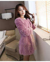 2016 autumn and winter plush to sleep mink hair relaxed female fake fur thick long-sleeved warm jacket