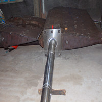 Marine forged steel Rudder pintle /rudder stock rudder blade supplier