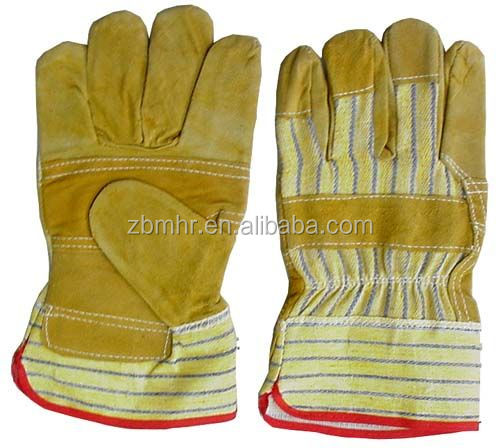 Brand MHR leather welding work glove reinforced calf skin gloves