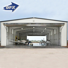 DFX Cheap High Rise Modular Artistic Prefabricated Steel Structure Airport Hangar