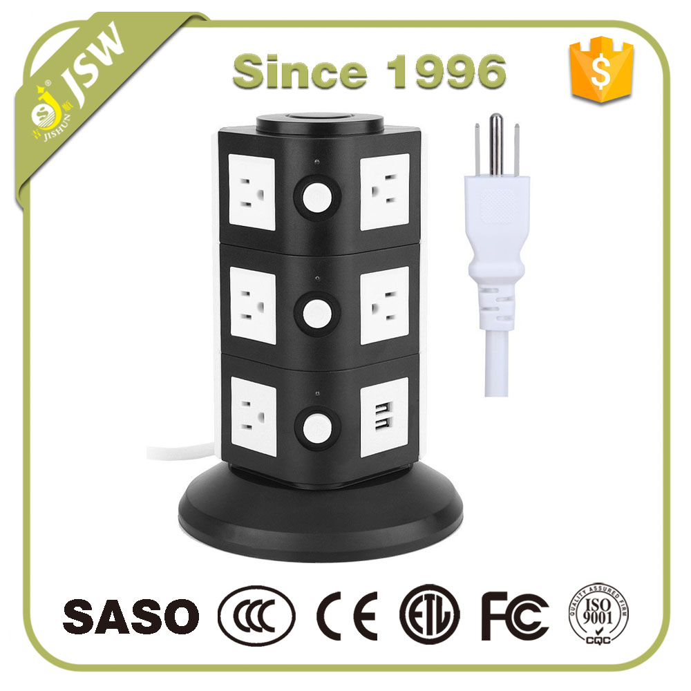 New products FCC/ ETL approved surge protector current tap with usb charging ports