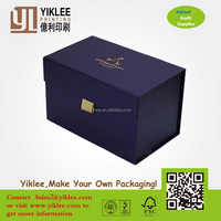 New design Magnetic Closure Foldable Paper Packaging Boxes/ Flat Folding Cardboard Gift box/ Collapsible Magnetic Box