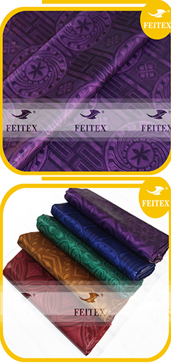 FEITEX African garment fabric bazin riche shadda guinea brocade damask dyed textiles hand made jacquard fabric