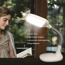 Flexible arm touch dimmer led desk lamp