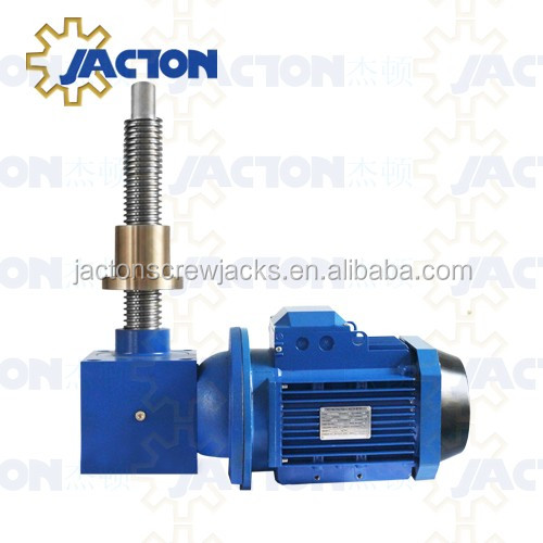 Precision 150KN Cubic Motorized Worm Gear Screw Jacks with Long Screw for 15T Table Tr 60x9