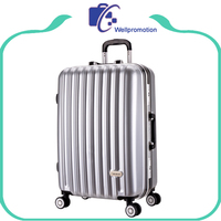 Trolley travel luggage custom aluminum suitcase with 4 spinner wheels