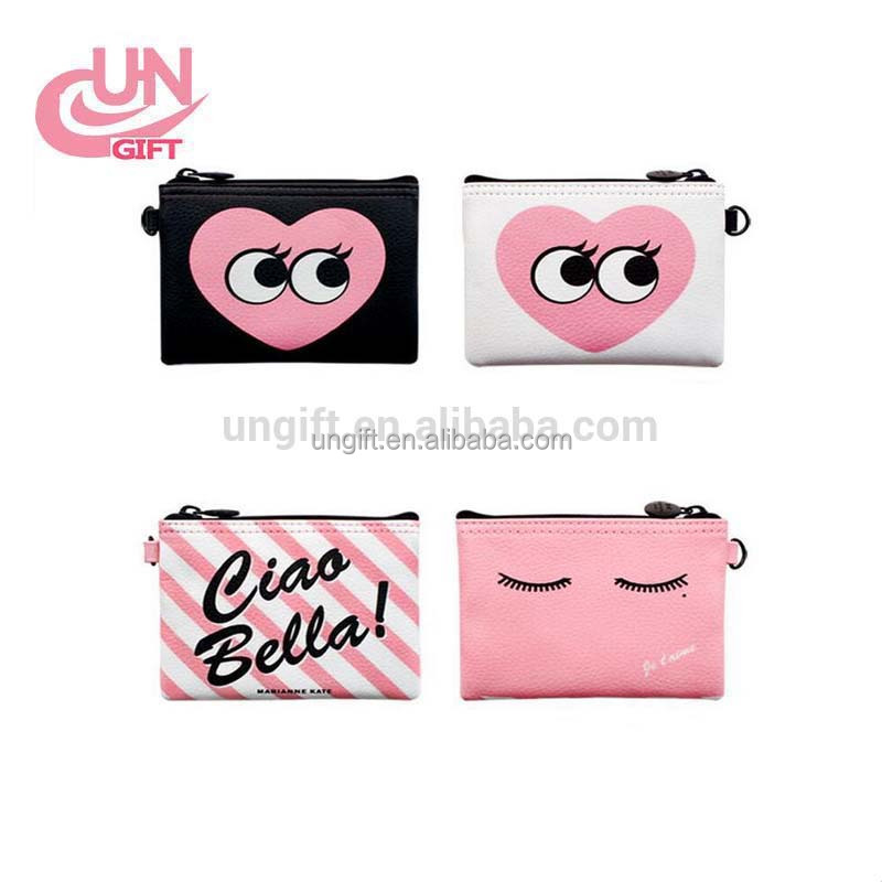 Wholesale cute print fashion high quality custom cosmetic bag