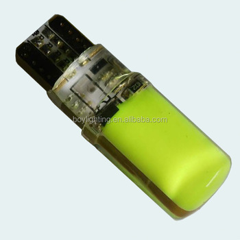 high bright silicone decorative light t10 cob 3w green color t10 width lamp light
