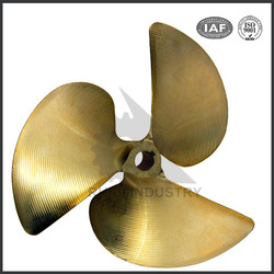 China manufacturer precision bronze 3 blade ship propeller for sale