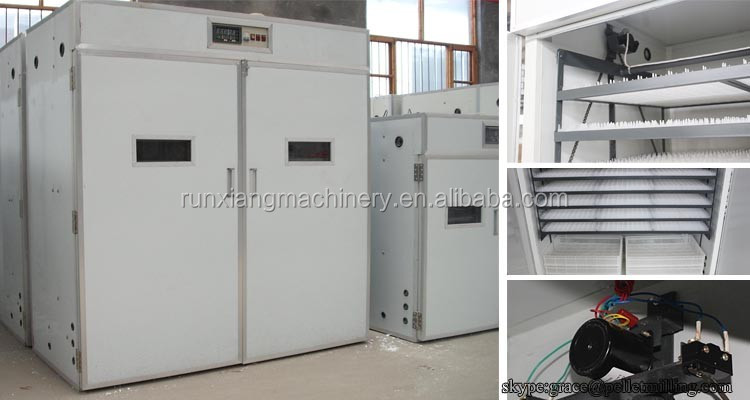 Chicken egg incubator hatching machine with plastic egg trays/quail egg incubator