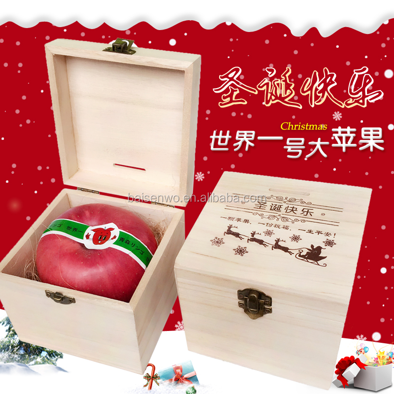 Christmas and new year paper packaging apple box, fruit gift box. fruit boxes