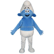 HI Wholesale Plush Adult Size Cartoon Character Smurf Mascot Costume For Sale