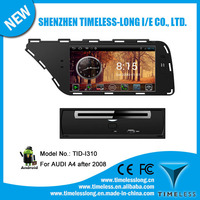 Android 4.0 1080P Touch screen in dash car dvd player for AUDI A4 after 2008 with GPS, RADIO,BT, PHONEBOOK, 3 Zone POP