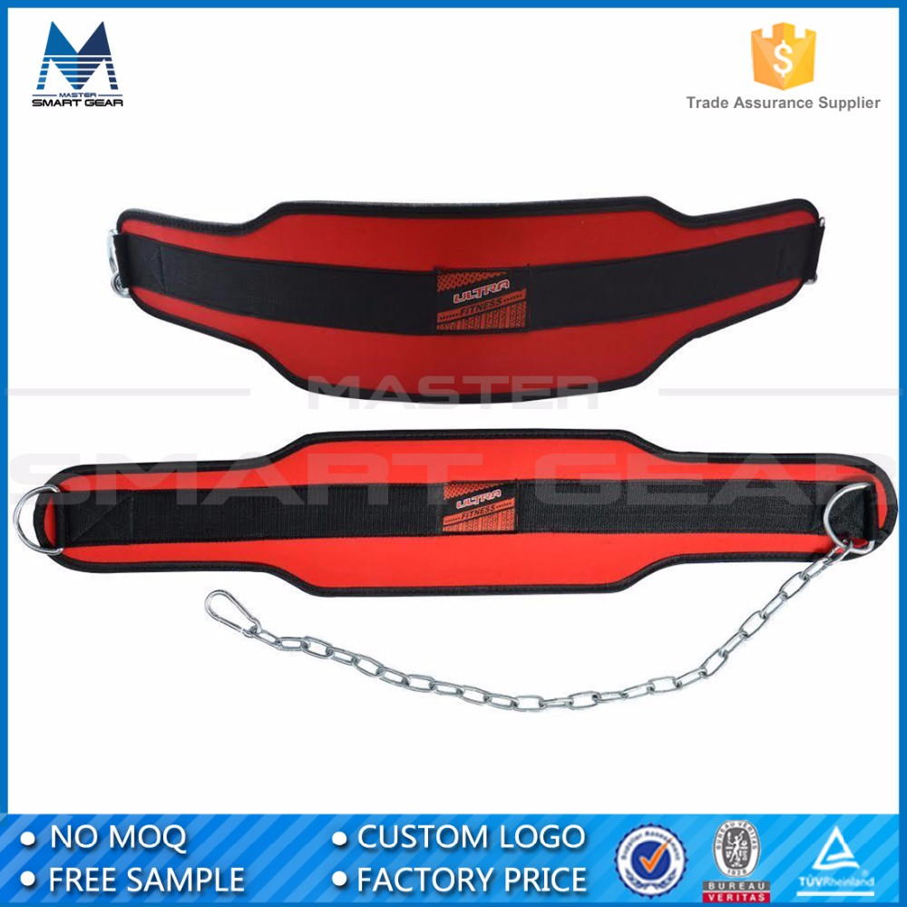 Chinese Supplier Weight Lifting Training Dip Belt WIth Chain