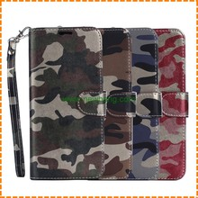 New Products Camouflage pattern Folding flip stand pu leather case for samsung s8 plus