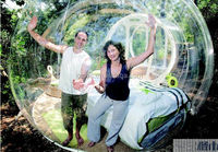 Couple honeymoon outdoor transparent outdoor inflatable clear tent