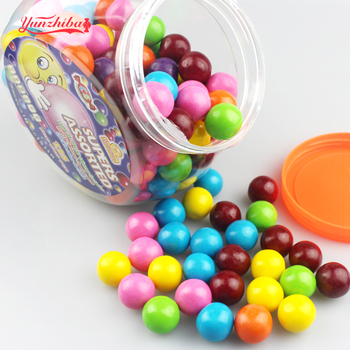 8g Multi-Colored Giant Bubble Gum Ball in Jar