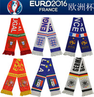 Customer design european cup satin acrylic scarf promotion products logo printing soccer fan sport football scarf
