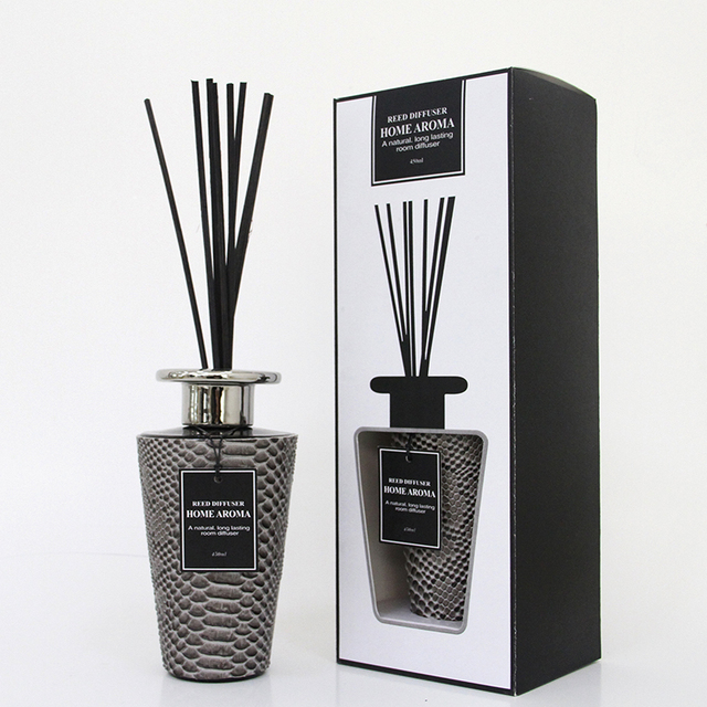 Home Fragrance Wholesale Reed Diffuser Black Glass Bottles