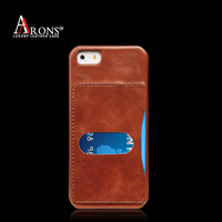 New style premium leather phone back case card slot ultra slim case for iphone6 cover