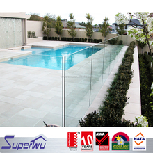 Stainless steel hardware tempered glass swimming pool fence with factory price