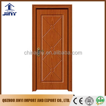 2017 new design sell well Iraq popular pvc sheet living room hdf wood door from Jiangshan city